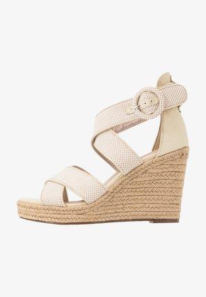 High heeled sandals - ivory