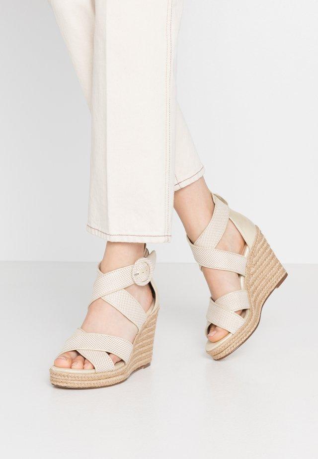 Sandalen met hoge hak - ivory