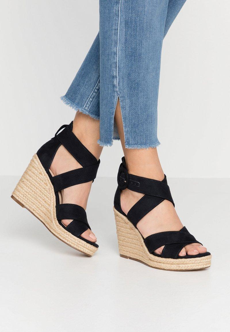 Tamaris - Korolliset sandaalit - navy