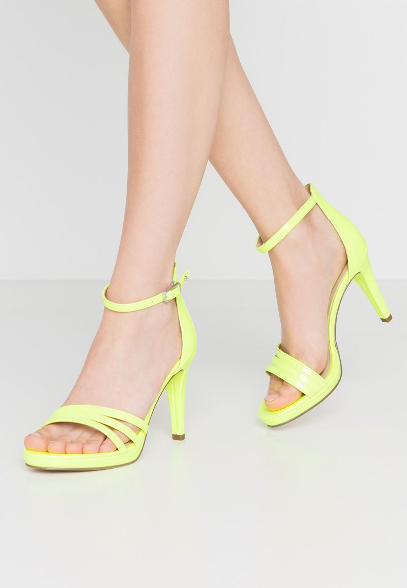 Tamaris - High heeled sandals - yellow neon