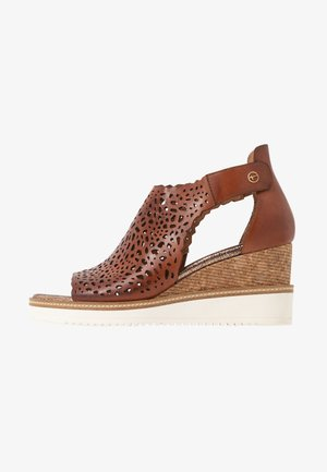 DA.-SANDALETTE - Wedge sandals - brandy
