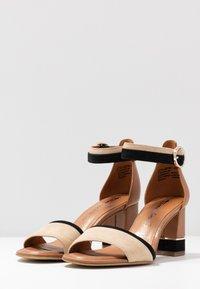 Tamaris - WOMS SANDALS - Ankle cuff sandals - cognac - 4