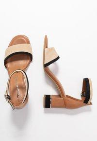 Tamaris - WOMS SANDALS - Ankle cuff sandals - cognac - 3