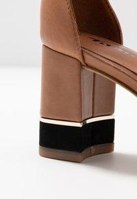 Tamaris - WOMS SANDALS - Ankle cuff sandals - cognac - 2