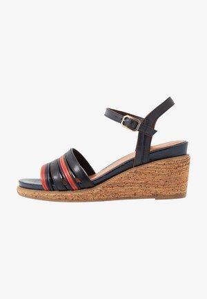Sandales à plateforme - navy
