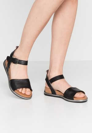 Sandalen met sleehak - black/pewter