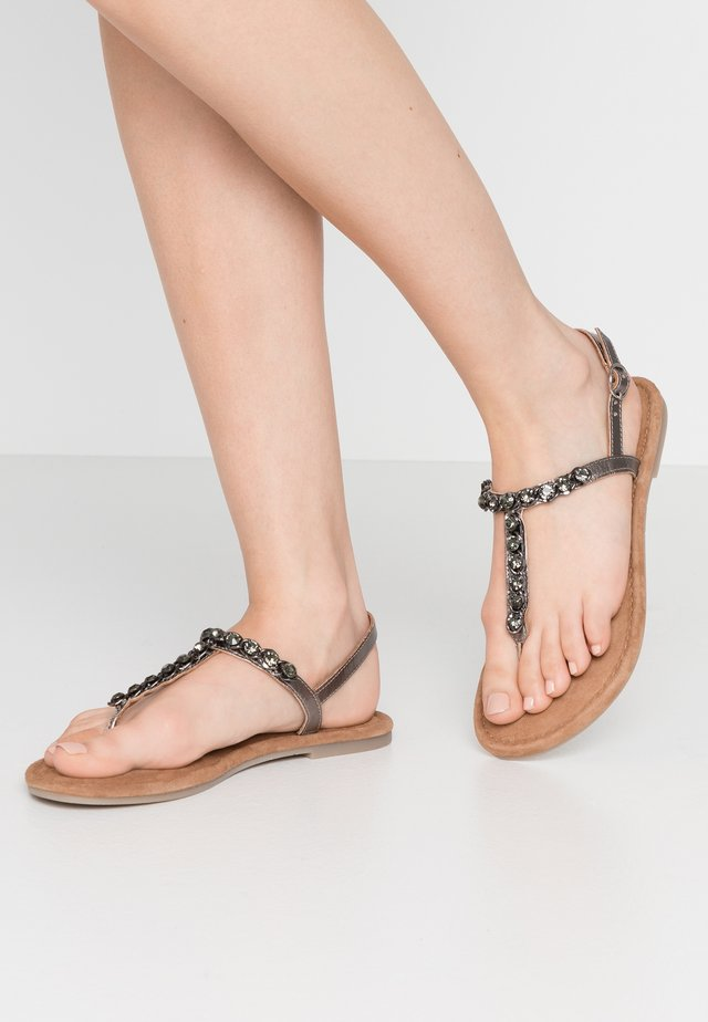 T-bar sandals - pewter