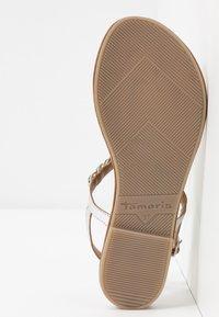Tamaris - Sandály s odděleným palcem - silver - 6