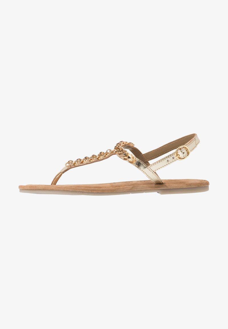 Tamaris - T-bar sandals - gold