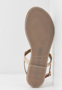 Tamaris - T-bar sandals - gold - 4