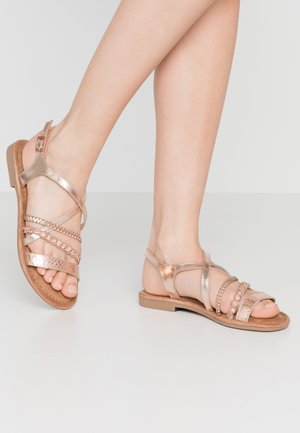 SANDALS - Sandals - copper