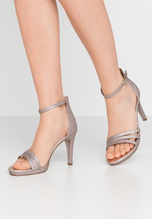 High heeled sandals - space glam