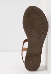 Tamaris - T-bar sandals - cognac - 6