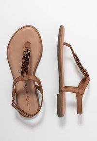 Tamaris - T-bar sandals - cognac - 3