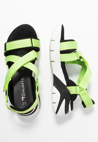 Tamaris - WOMS SANDALS - Wedge sandals - lime neon - 3