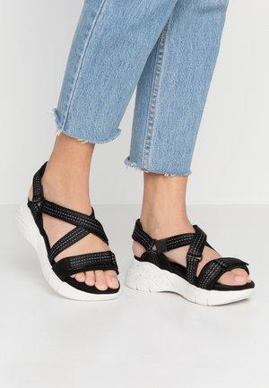 WOMS SANDALS - Wedge sandals - black