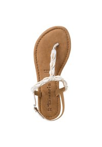 Tamaris - T-bar sandals - white - 1
