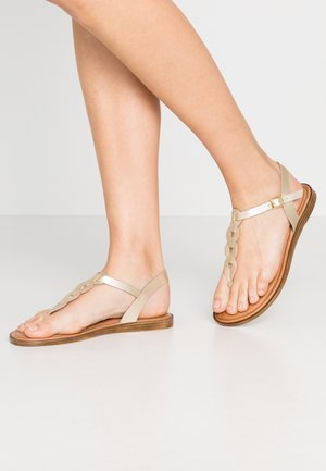 T-bar sandals - light gold