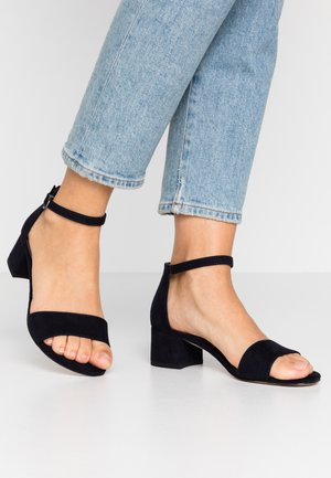WOMS SANDALS - Ankle cuff sandals - navy