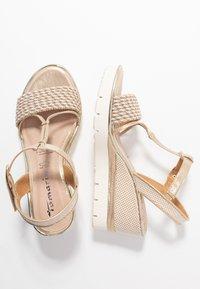 Tamaris - Platform sandals - light gold - 3