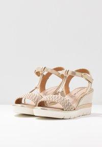 Tamaris - Platform sandals - light gold - 4
