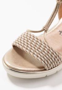 Tamaris - Platform sandals - light gold - 2