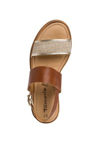 Tamaris - WOMS SANDALS - Sandalen met plateauzool - brown - 1