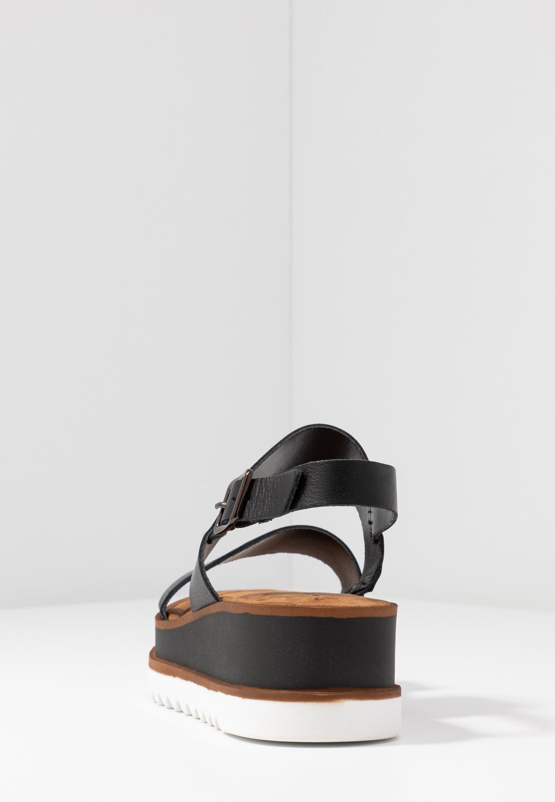 Tamaris WOMS SANDALS - Sandały na platformie - black