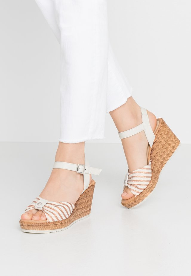Plateausandalette - ivory