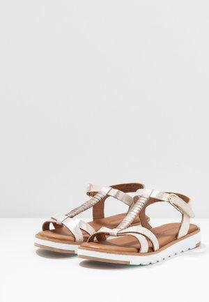Sandals - champagne/metallic