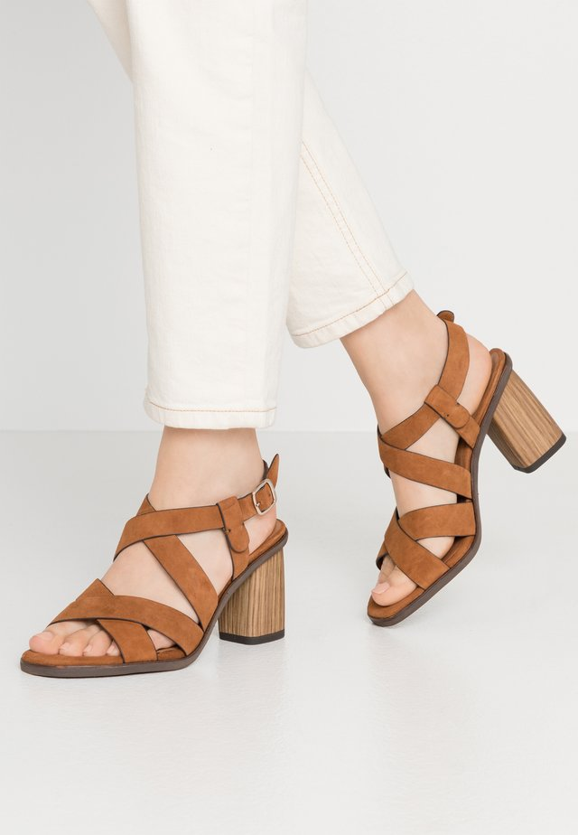 Sandalen met hoge hak - muscat