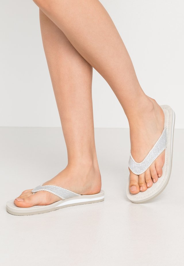 SLIDES - Flip Flops - silver