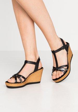 Sandály na vysokém podpatku - black/pewter