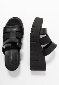 Tamaris - SABOT - Pantolette hoch - black - 3