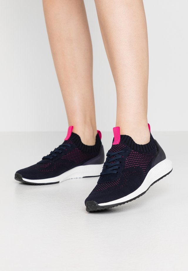 LACE-UP - Sneakers - navy/magenta