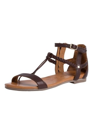 Ankle cuff sandals - mocca
