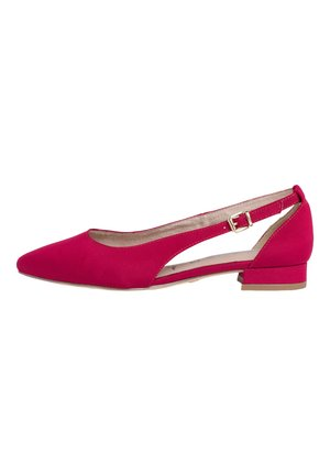 Ankle cuff ballet pumps - lipstick