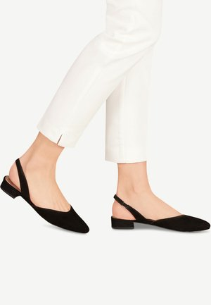 TAMARIS SLINGPUMPS - Slingback ballet pumps - black