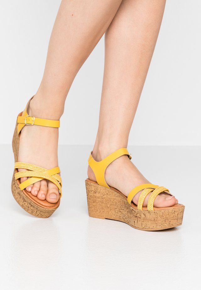 Sandalen met plateauzool - sun