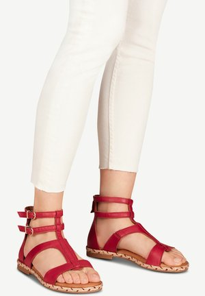 TAMARIS SANDALE - Ankle cuff sandals - berry red