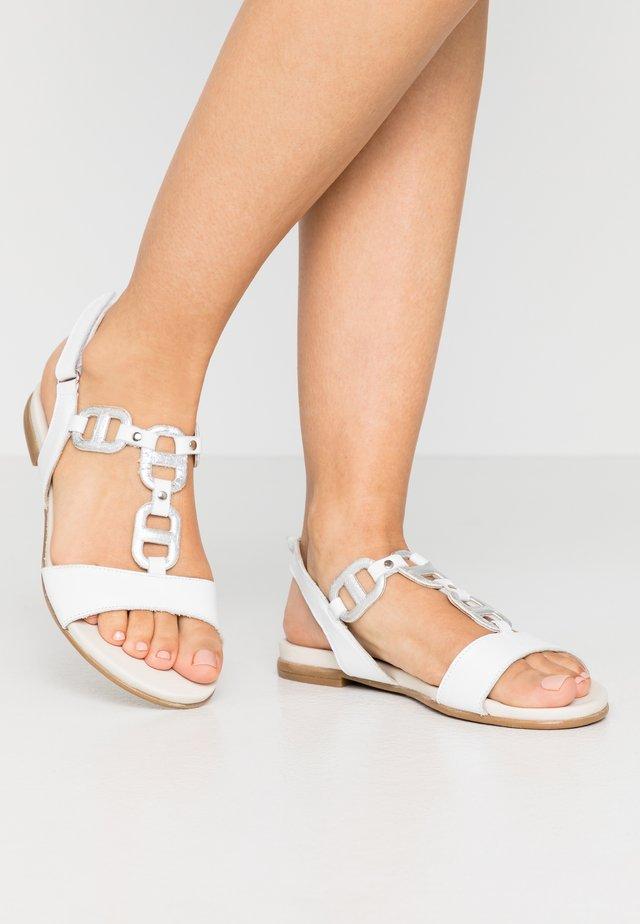 Sandaler - white/silver