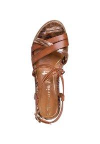 Tamaris - TAMARIS SANDALE - Sandalen met sleehak - nut - 1