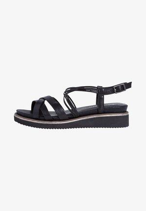 TAMARIS SANDALE - Sandalen met sleehak - black