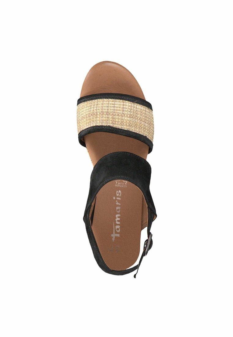 Tamaris Sandalette - Platåsandaletter Black/rope