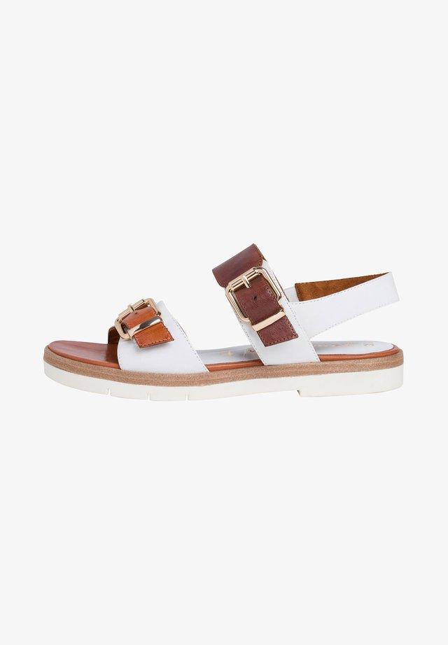 TAMARIS SANDALE - Sandaler - white