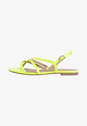 T-bar sandals - yellow neon