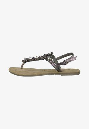 TAMARIS SANDALE - T-bar sandals - pewter