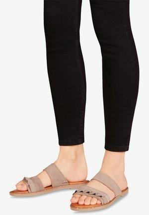 Pantolette flach - light grey