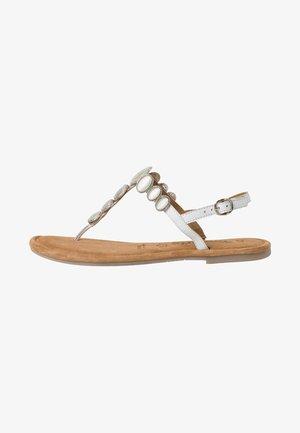TAMARIS SANDALE - T-bar sandals - white