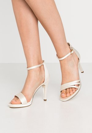 High Heel Sandalette - white